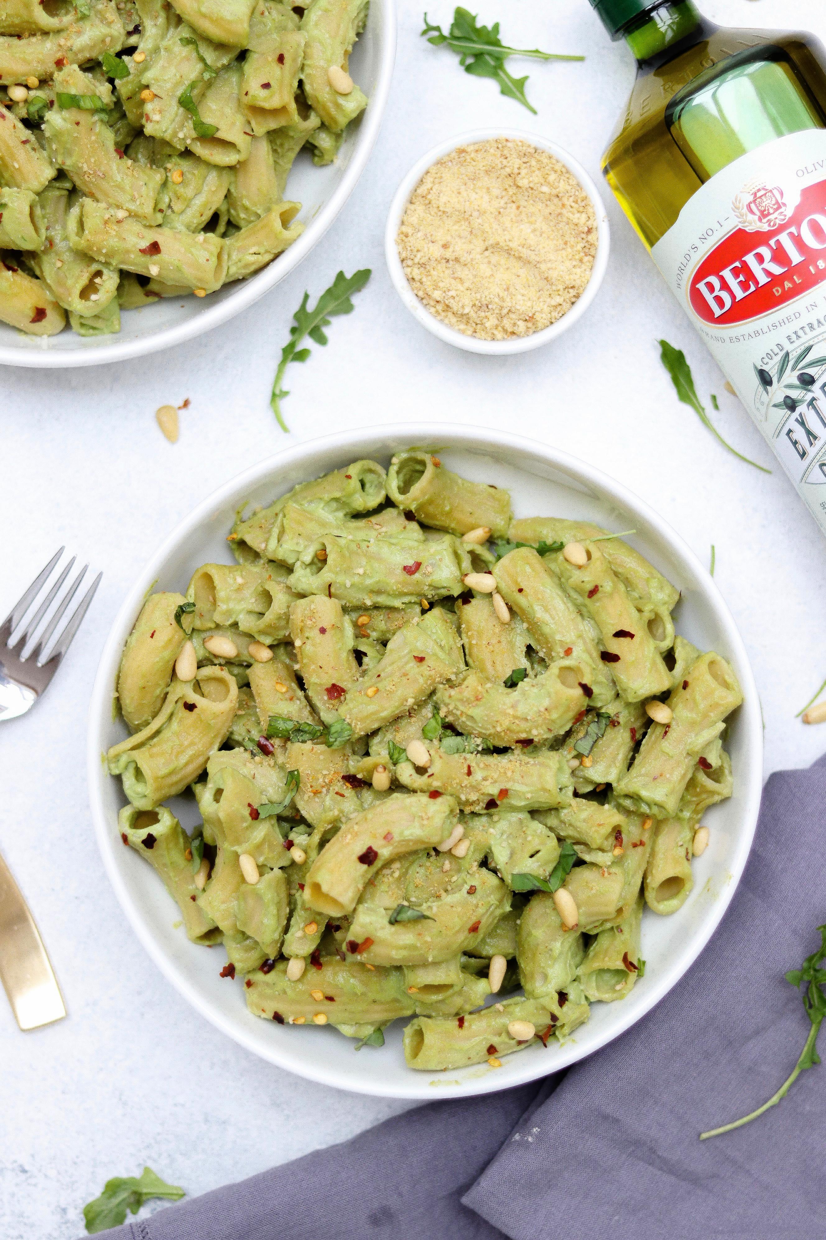Bertolli Extra Virgin Olive Oil with Avocado Pesto Pasta