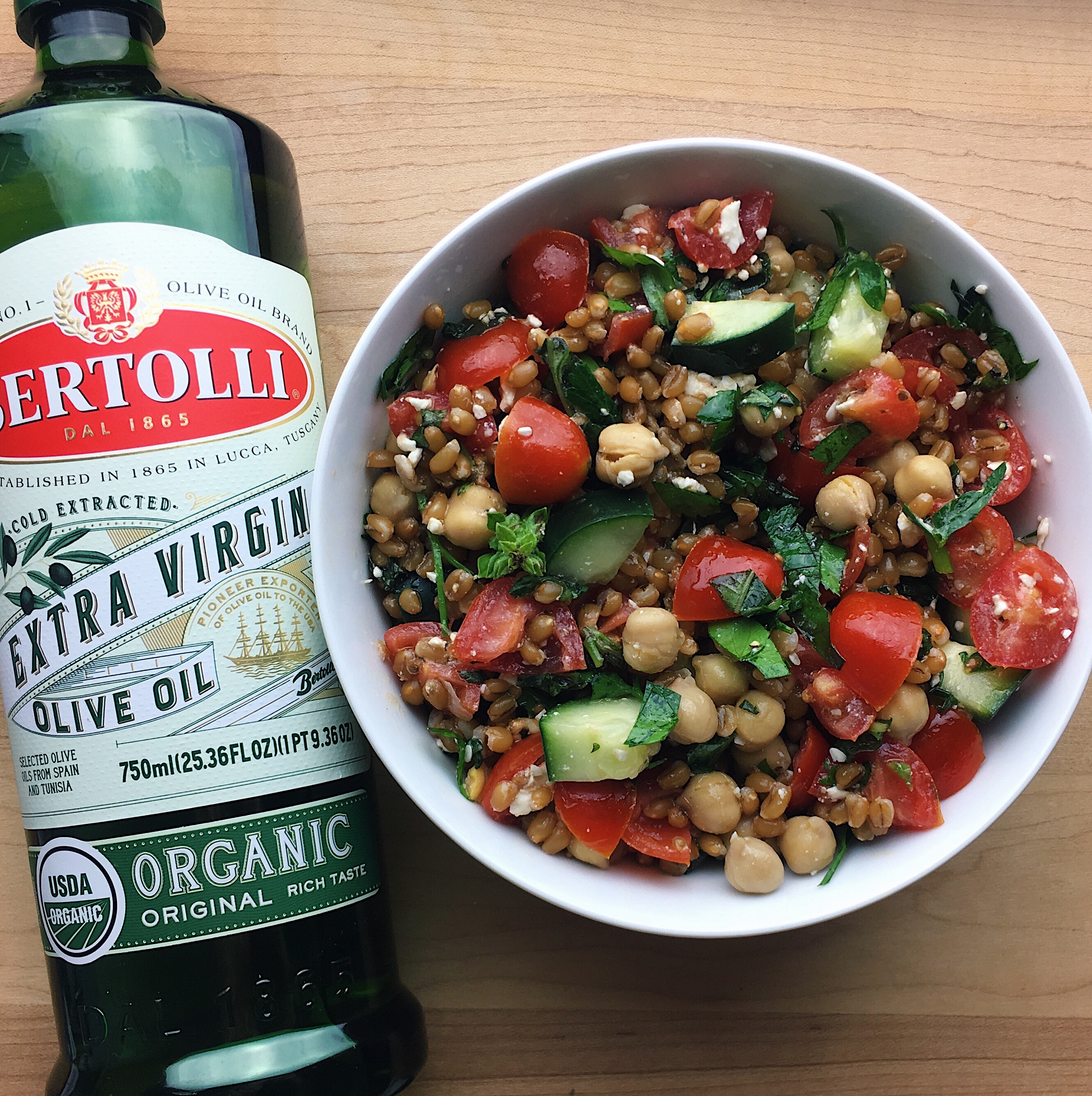 Bertolli Extra Virgin Olive Oil with Healthy Salad Bowl