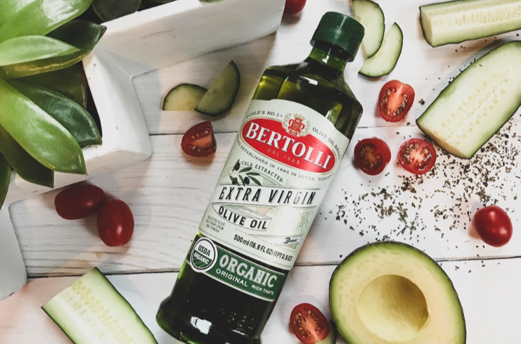 Bottle of Bertolli Organic Extra Virgin Olive Oil