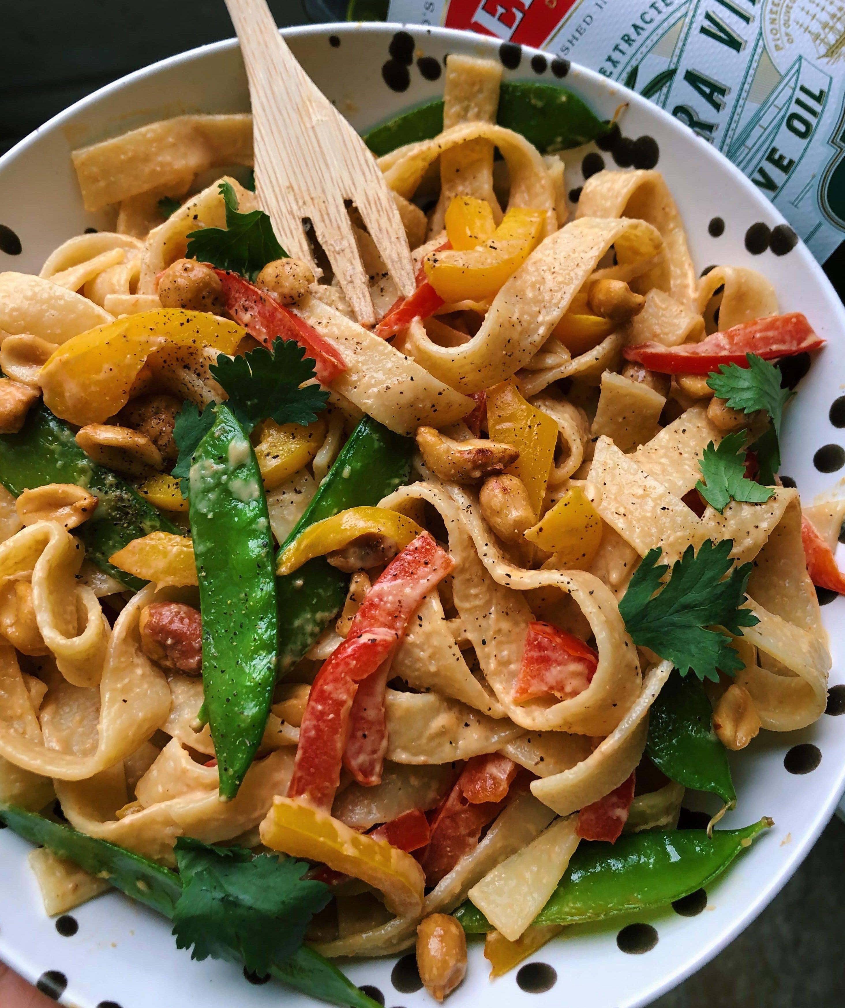 Thai Peanut Veggie & Noodle with Bertolli