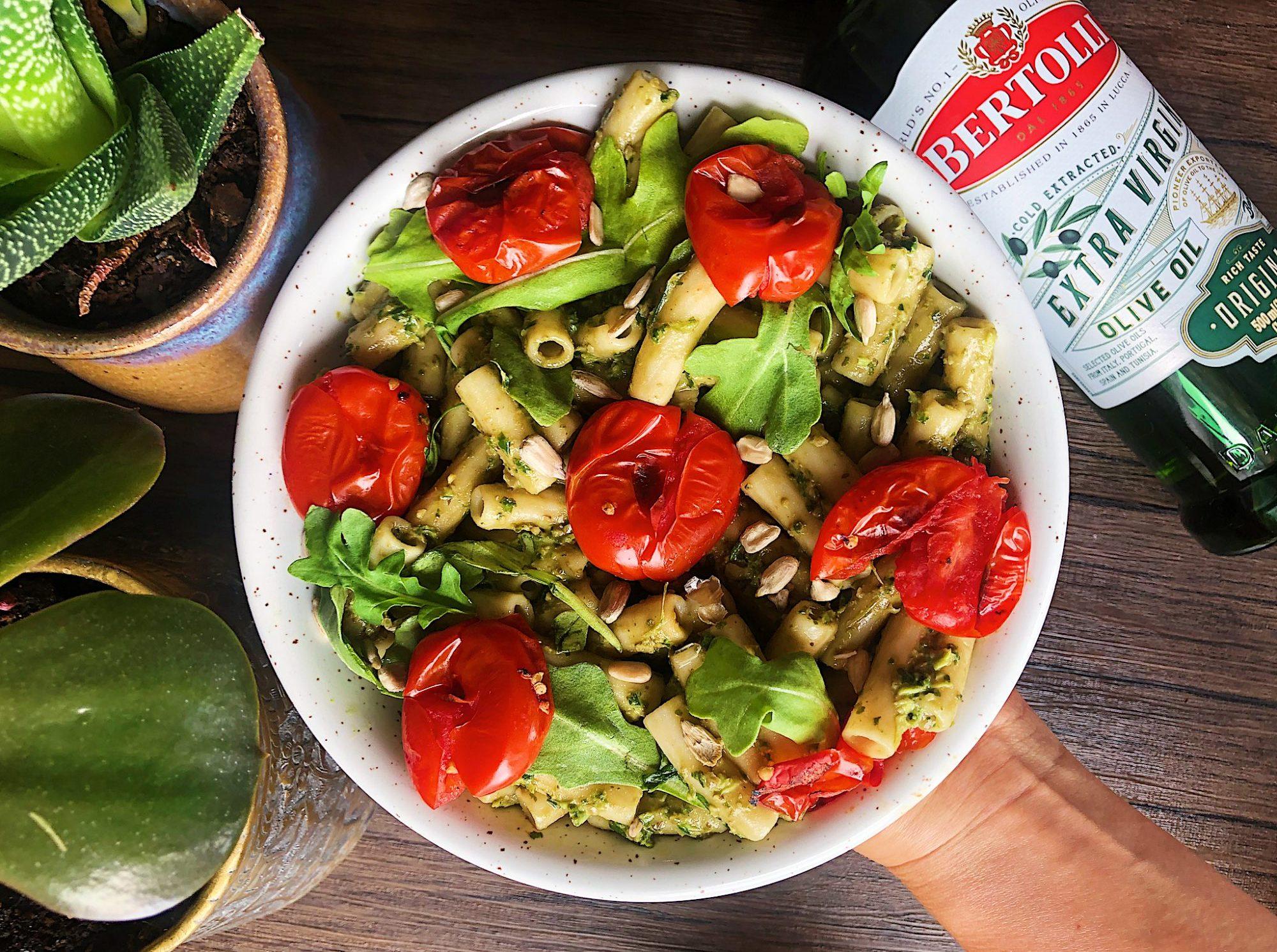 Easy Vegan Pesto Pasta with Bertolli Olive Oil