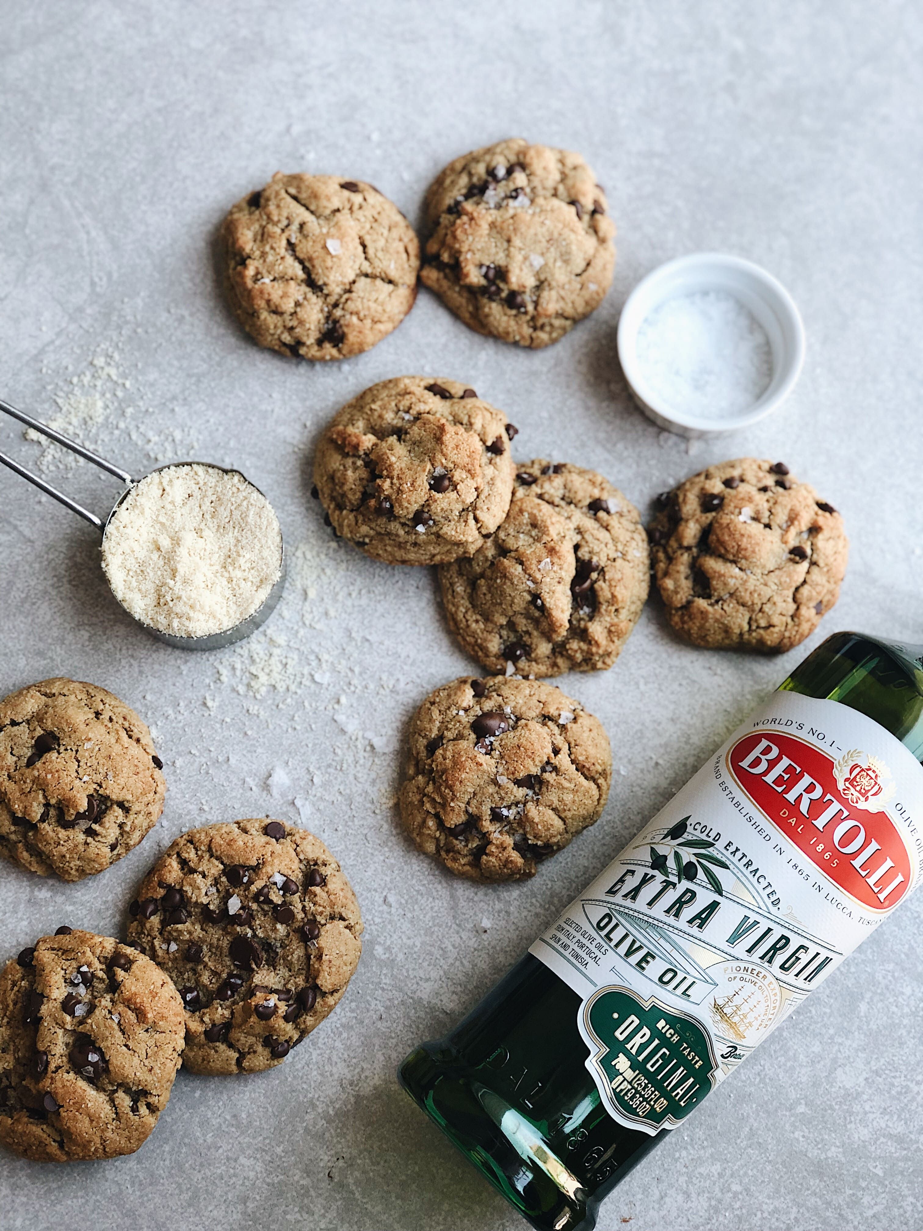 Olive Oil Almond Cookies representing quality Bertolli Olive Oil