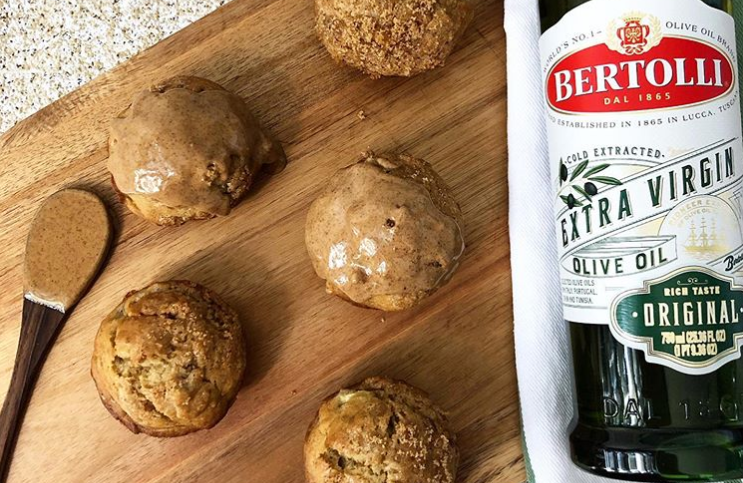 Banana Muffins with Bertolli Olive Oil