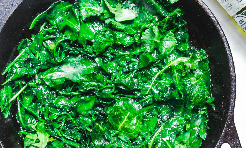 sautéed greens with Bertolli Olive Oil