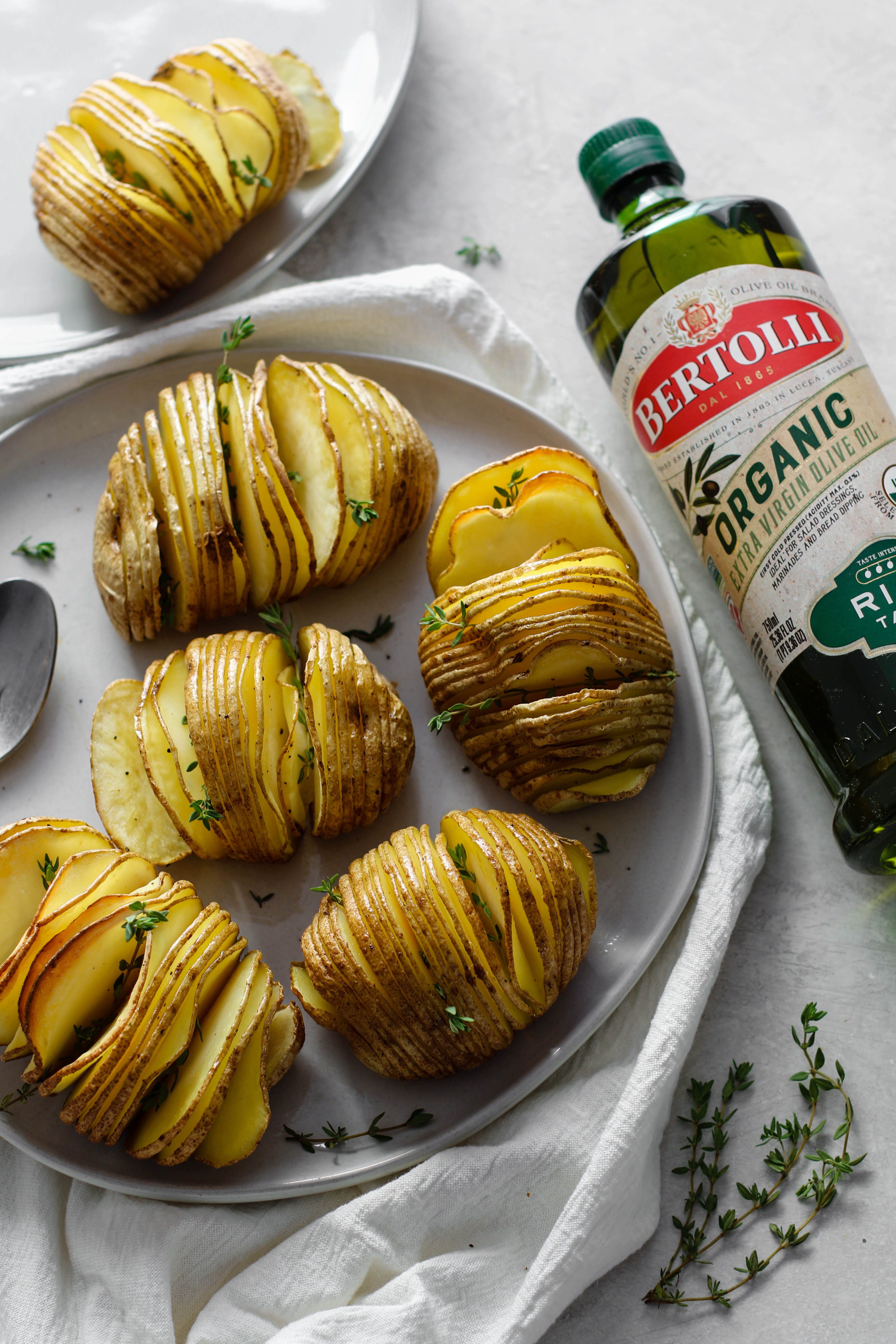 HASSELBACK RUSSET POTATOES with Olive Oil