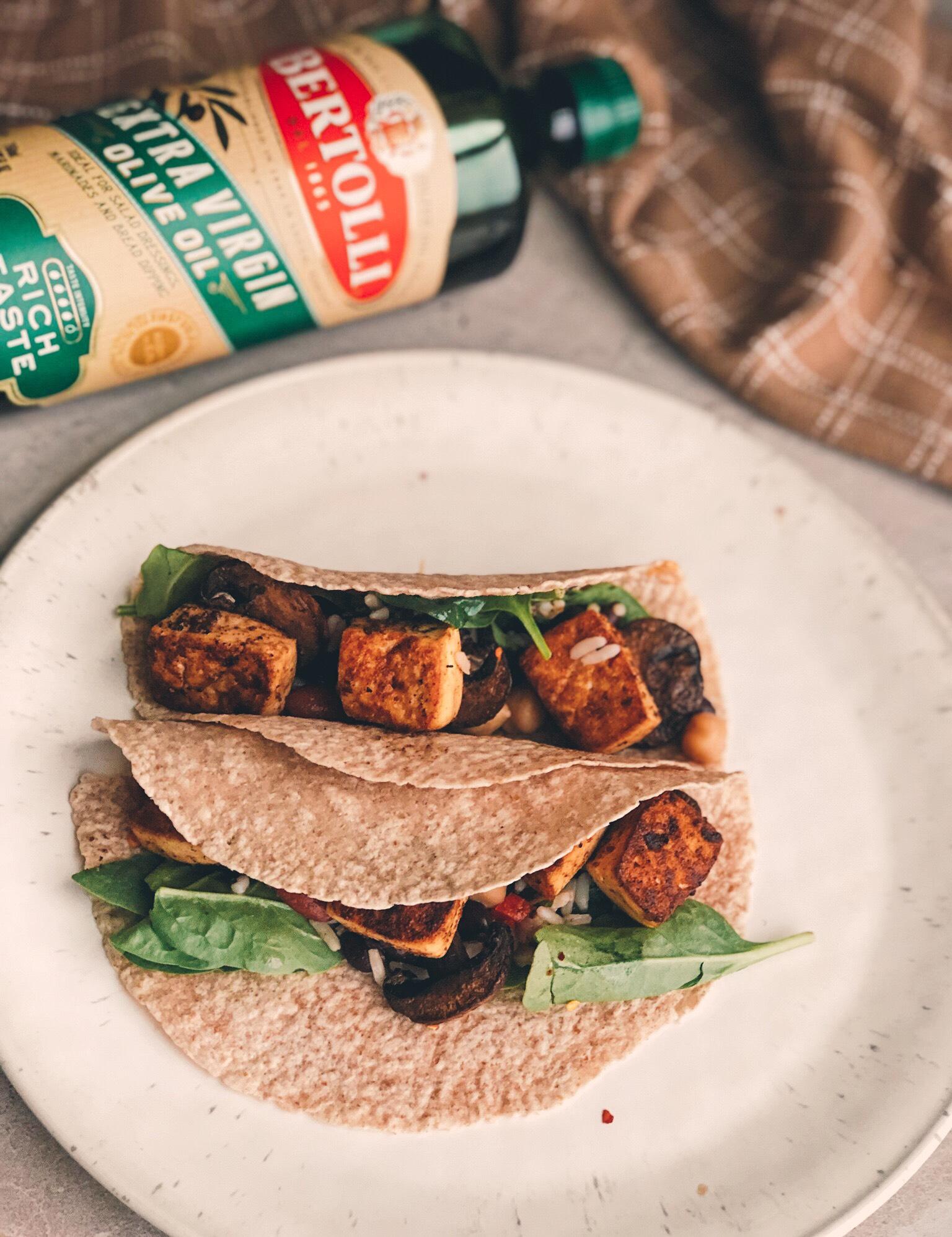 Tofu Tacos with Bertolli Olive Oil