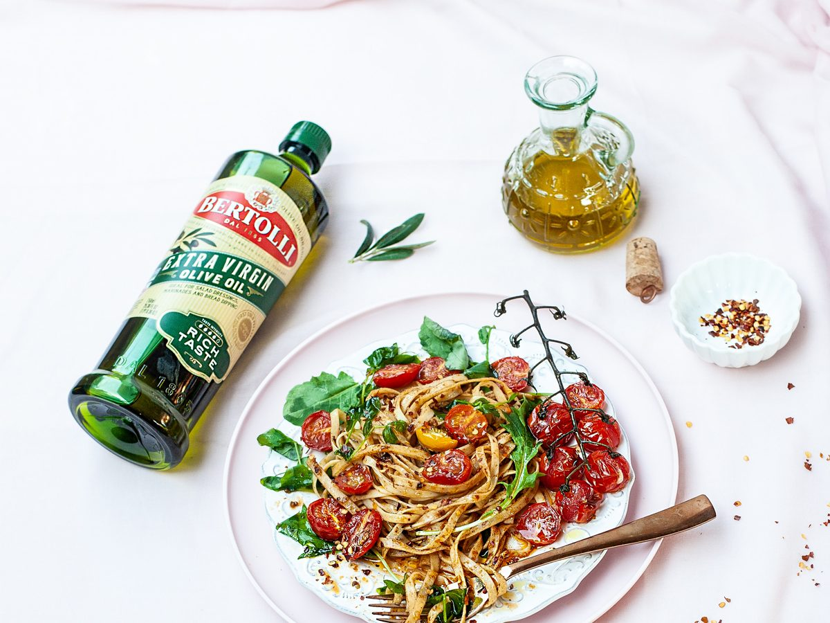 roasted cherry tomato pesto with Bertolli
